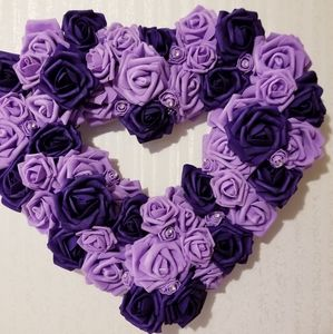 65 Rose Wreath 2 purples for CYSTIC FIBROSIS